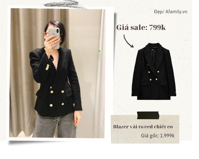 Blazer Zara sale đồng giá 799k: Áo vải tweed đẹp mê, có mẫu chuẩn style sang chảnh của chị đẹp Son Ye Jin - Ảnh 3.